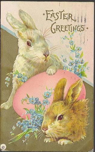 Vintage easter bunnys