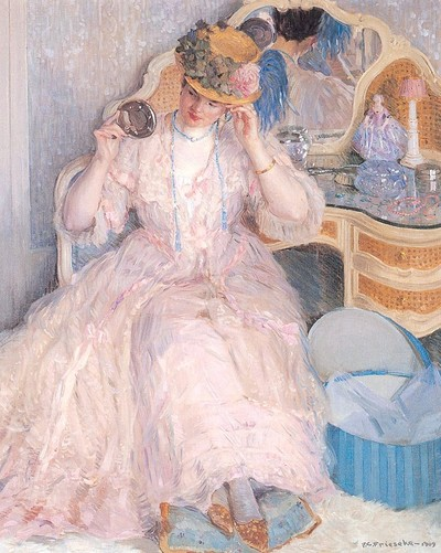 Frieseke_frederick_c_lady_trying_on